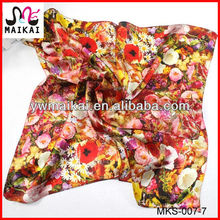 Latest new design digital print custom silk head kerchief