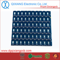 Double sided Hasl electronic mobile antenna 2layer pcb board manufacturer with fr4 material and blue ink soldering mask