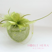 Wholesale Fascinator Sinamay Wedding Hats With Feather For Women