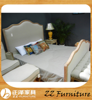 French style bedroom furniture solid wood bed frame for hotel