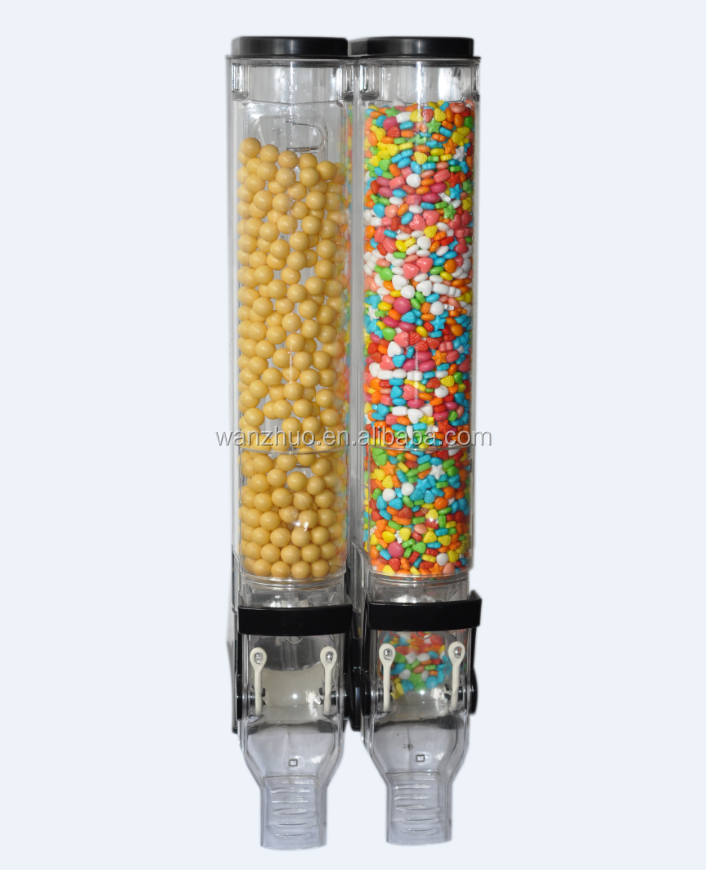 Plastic Bulk food dispenser for supermarket and retail stores