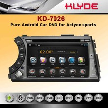 new items in china market 2 din car radios with navigation player for actyon sports with universal remote control