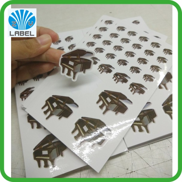 Direct Manufacture Waterproof Vinyl Kiss Cut Sticker , Die Cut Vinyl Sticker Sheet