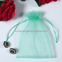 High Quality Fabric Printing Pouch Personalized Organza Gift Bags for Jewelry