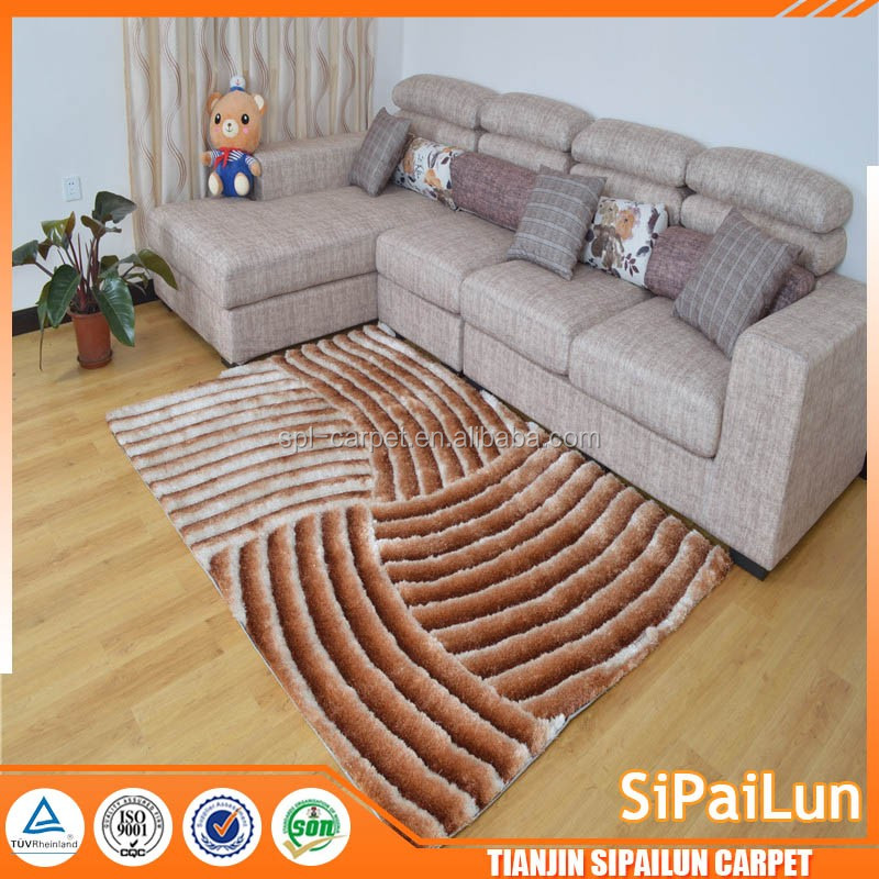 hand tufted pattern brown China 5D Area Rugs Decoration 5d carpet made in Tianjin