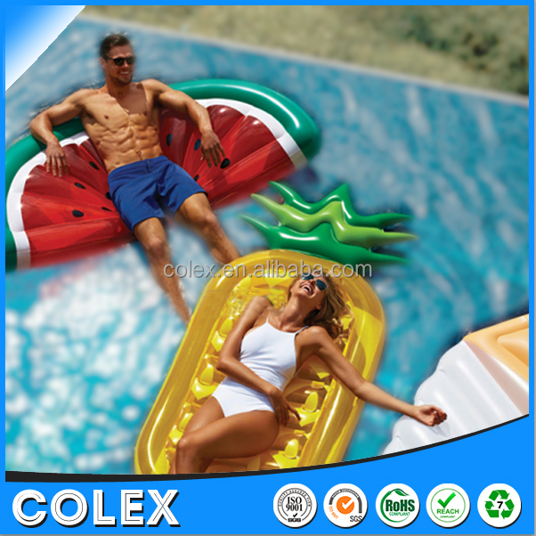 Inflatable Pineapple Pool Float Raft Large Outdoor Swimming Pool Inflatable Float Toy Floate Lounge Toy for Adults & kids