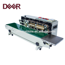 Desktop automatic horizontal continuous tray band sealer
