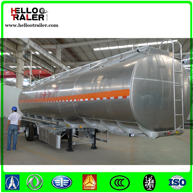 42000L Tri Axle Stainless Steel Crude Oil Tanker Fuel Tank Truck Trailer