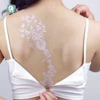 LS Series(1-2) White Lace Tattoo Designs Bulk Waterproof Henna Temporary Lace Body Tattoo