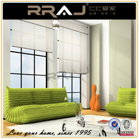 RRAJ Adhesive Tubular Motor Roller Blinds and Office Decoration