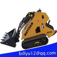 New/used mini skid loader installed maintenance free battery 2x4WD China motor skid steer loaders