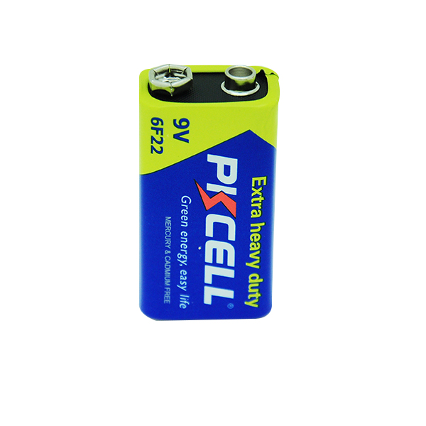 PKCELL Super Heavy Duty Dry Battery 9V 6F22 Zinc carbon battery