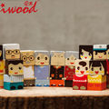 Mini Gift Family Blocks Home Wooden Crafts Decoration