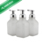 Oval with White Pumps Empty Plastic Liquid Soap Pump Bottles to Use with Castile Soap