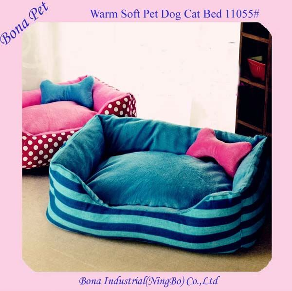 High Quality Washable Large Pink Dog Beds with Pillows