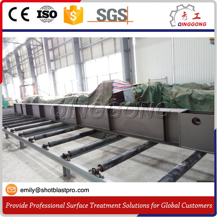 steel profiles /steel structure/h-beams shot blasting machine