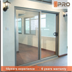 Used cheap interior decorative apartment house soundproof waterproof 2 panel leaf aluminium glass sliding doors for sale