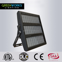 2017 factory best sell IP65 130lm/W 1000W LED Stadium Light with ETL DLC