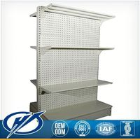 Multifunctional Custom Printed metal Display rack of mart shelving system as mini supermarket facilities supply and design