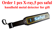 Saful Wholesale handheld security metal detector Sound mode portable security scanner TS--P1001 diamond metal detector