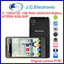 Original Lenovo P780 4GB 3G Phablet Android 4.2.1 MTK6589 1.2GHz Quad Core RAM:1G 5.0 inch IPS Gorilla GlassScreen Support OTG