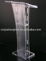 Factory Direct Made Perspex Platform Rostrum Customized Acrylic Church Pulpit Clear Acrylic Lectern
