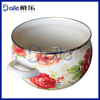 Enamelware Casserole tempered glass cooking pot