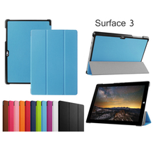 "For 10.8"" Microsoft Surface 3 Tablet PC Ultra Slim Leather Protective Case Stand Cover"
