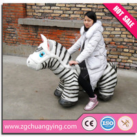 shopping mall coin operated battery baby horse toy to ride