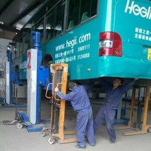 car lifting machine movable 4-Post lifts Electric Mechanical 20T capacity