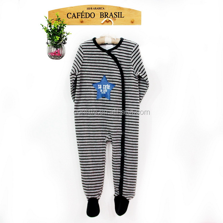 Velour stripes printed baby animal clothes baba clothing costumes boys