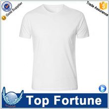 Customized Wholesale unisex sublimation blank fitted plain round neck men t-shirt