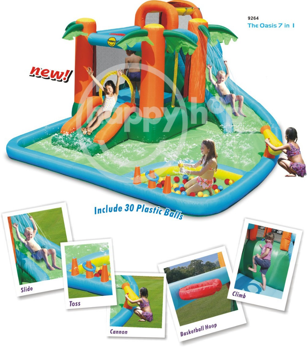 Happy hop Water Park -9264 Inflatable Water Slide, Mini Water Park