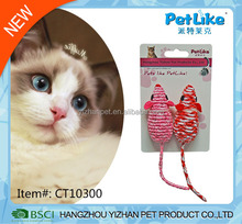 Customized manufacturing knitted mouse cat toy