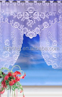 Lace Cheap Kitchen Curtain , Floral Jasmie Tier Curtain Swag , Lace Topper Curtain
