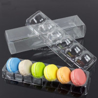 China manufacturer Food grade plastic macaron fold box with inner blister