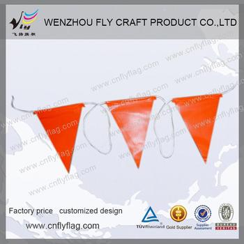 PVC safety triangle flags bunting flags bunting bunting flags