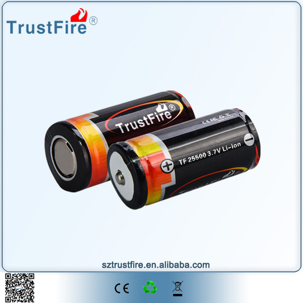 TrustFire 25500 cylindrical battery,lithium backup battery,power safe battery for electric tool