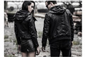 Fashion Men Women Lamb Skin Leather Jacket