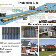 hydraulic automatic colorful stone-coated metal roof tile making line