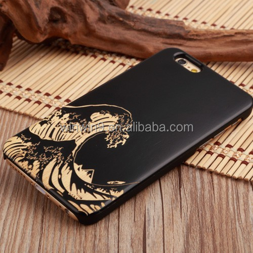2018 New Product Unique Design Wooden Cell Phone <strong>Case</strong> for iPhone 6, Carved Phone Shell for iPhone 8