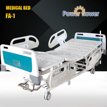 Manufacturer since 1998 with CE ISO!Five cranks Electric Fowler Bed ICU Bed