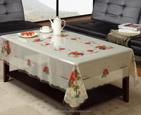 Plastic Printing Clear Coffee Tablecloth