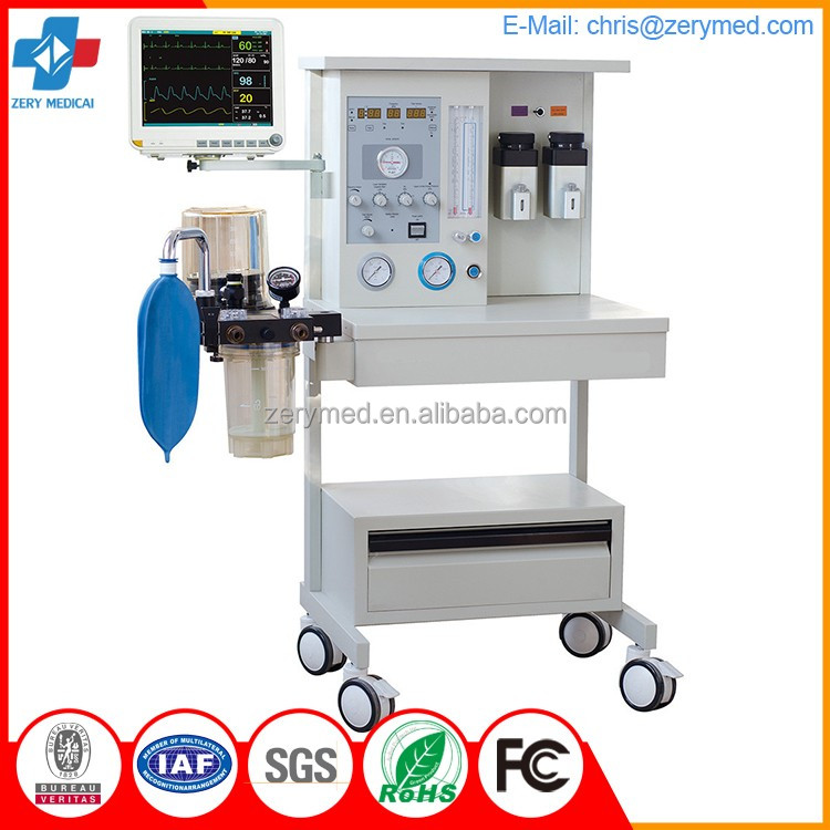 ZYM-02 hospital surgical room equipments mobile veterinary anestesia machine