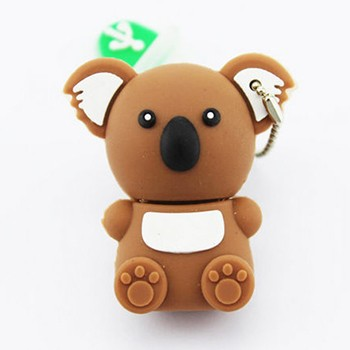 Cute koala shape usb flash drive, promotion usb flash disk, custom pvc usb stick