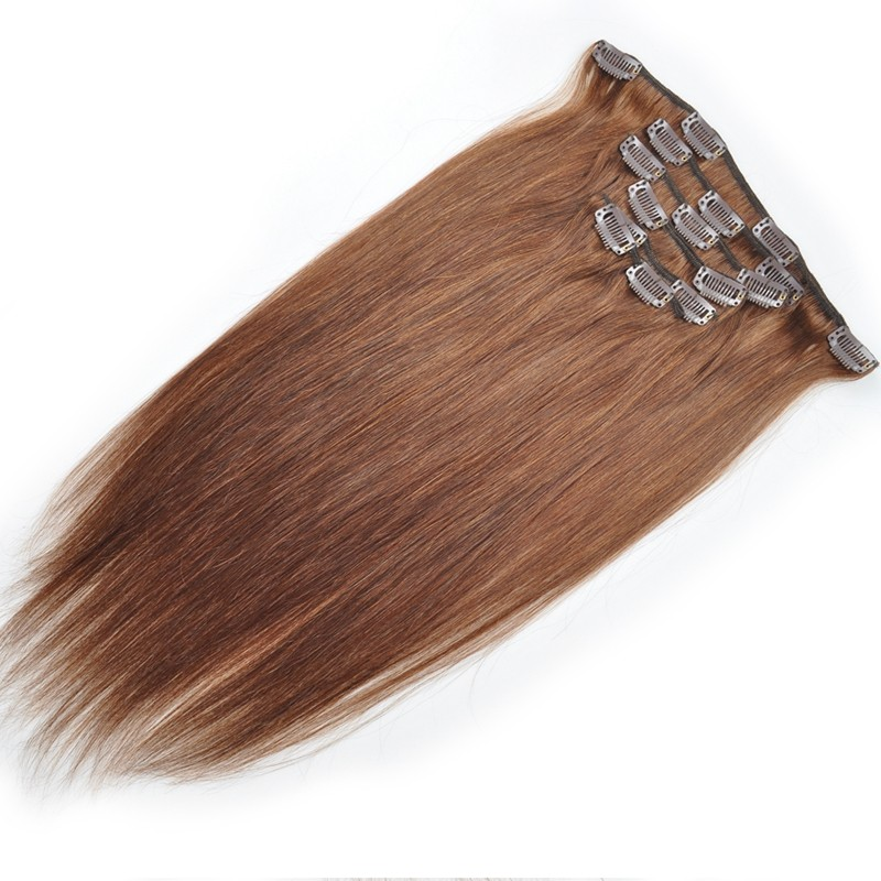 Afro Blonde Brown Mixed Colour Hair Weave Clip In Halo Hair