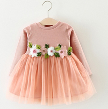 Baby Girl Summer Frock Long Sleeve Children Dress Embroidery Design