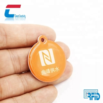 Epoxy printable nfc tag for pet NTAG 213 proximity programmable microchip smallest hf rfid tag