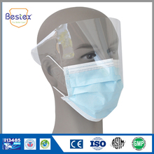 Customized Design Surgical Face Mask With Plastic Shield