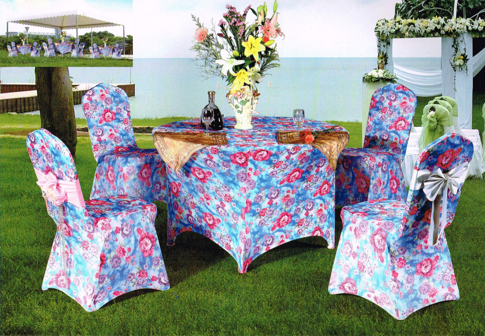 spandex table cloth and chair cover for wedding